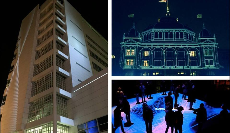 TodaysArt illuminates the Spuiplein and Kurhaus from December until February